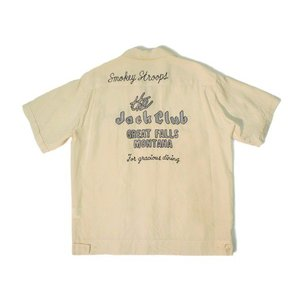 STYLE EYES / スタイルアイズ SE36520 THE JACK CLUB BOWLING SHIRT ボーリングシャツ 東洋エンタープライズ 105 OFF WHITE オフホワイト 送料無料 americanrushstore