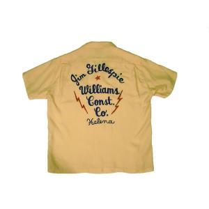 STYLE EYES / スタイルアイズ SE36166 W/CHAIN EMB'D BOWLING SHIRT ボーリングシャツ 東洋エンタープライズ 155 YELLOW イエロー 送料無料 americanrushstore