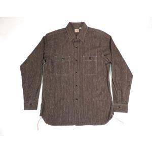 SUGARCANE / シュガーケーン SC26485N WORK SHIRTS コットン コバート ワークシャツ 410 BLACK N ブラック 杢 americanrushstore