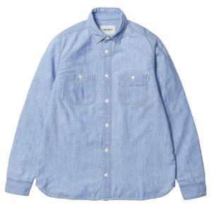 カーハート メンズ 長袖 クリンク シャツ ブルー ブリーチ ワーク シャンブレー シャツ CARHARTT WIP L/S CLINK SHIRT BLUE S.BLEACHED 送料無料 I012297 americanrushstore