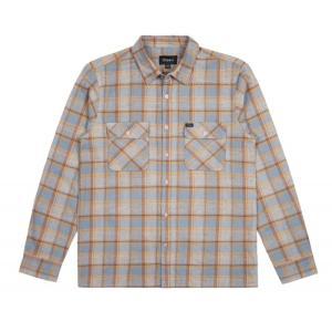BRIXTON / ブリクストン ARCHIE L/S FLANNEL SHIRT ネルシャツ HEATHER GREY ヘザーグレイ 送料無料 americanrushstore