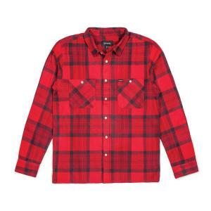 BRIXTON / ブリクストン MILTON L/S FLANNEL ネルシャツ フランネル チェック RED 送料無料 americanrushstore