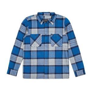 BRIXTON / ブリクストン MILTON L/S FLANNEL ネルシャツ フランネル チェック BLUE 送料無料 americanrushstore