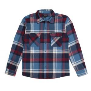 BRIXTON / ブリクストン BOWERY L/S FLANNEL SHIRT ネルシャツ BLUE/BURGUNDY ブルー/バーガンディー 送料無料|americanrushstore