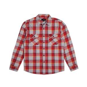 ブリクストン 長袖 フランネルシャツ ネルシャツ レッド/グレー BRIXTON BOWERY L/S FLANNEL SHIRT RED/GREY 送料無料 americanrushstore