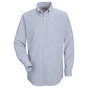 RED KAP / レッドキャップ SR70 OXFORD DRESS SHIRT B.D オックスフォード ドレスシャツ ボタンダウン BLUE / WHITE STRIPE|americanrushstore