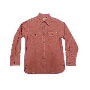 SUGARCANE / シュガーケーン SC25511 JEAN CORD WORK SHIRTS ワークシャツ 165 RED レッド americanrushstore