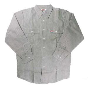 BEN DAVIS / ベンデイビス HICKORY STRIPE LONG SLEEVE SHIRTS ヒッコリーストライプ ワークシャツ|americanrushstore