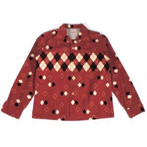 スタイルアイズ コーデュロイスポーツシャツ オープンカラー アーガイル 東洋エンタープライズ レッド SE27427 STYLE EYES CORDUROY SPORTS SHIRT ARGYLE 165RED americanrushstore