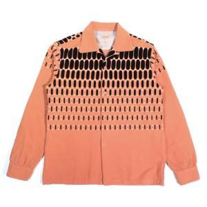 スタイルアイズ エルヴィス ドット コーデュロイ スポーツシャツ オレンジ オープンカラー STYLE EYES ELVIS DOT CORDUROY SPORTS SHIRT ORANGE americanrushstore