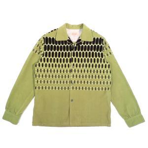 スタイルアイズ エルヴィス ドット コーデュロイ スポーツシャツ グリーン オープンカラー STYLE EYES ELVIS DOT CORDUROY SPORTS SHIRT L.GREEN americanrushstore