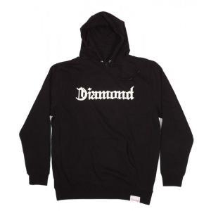 DIAMOND SUPPLY CO / ダイアモンド サプライ DIAMOND 4 LIFE HOODY プルオーバー パーカー スウェット BLACK ブラック americanrushstore