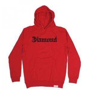 DIAMOND SUPPLY CO / ダイアモンド サプライ DIAMOND 4 LIFE HOODY プルオーバー パーカー スウェット RED レッド americanrushstore
