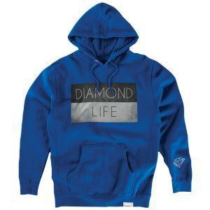 DIAMOND SUPPLY CO / ダイアモンド サプライ DIAMOND LIFE FLAG プルオーバー パーカー スケート BLUE ブルー americanrushstore