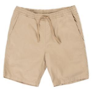バンズ レンジ19インチショーツ カーキ ショートパンツ ハーフパンツ メンズ 膝上 テーラードフィット VANS RANGE19