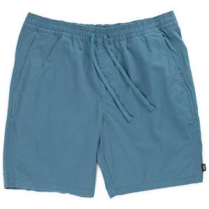 バンズ レンジ19インチショーツ リアルティール ブルー ショートパンツ ハーフパンツ メンズ 膝上 テーラードフィット VANS RANGE19