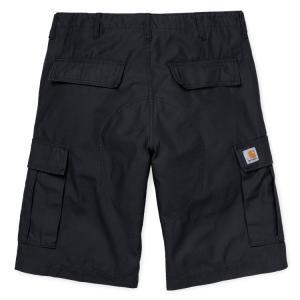 カーハート メンズ レギュラー カーゴ ショーツ ブラック ハーフ ショート パンツ CARHARTT WIP REGULAR CARGO SHORT BLACK STONE WASHED 送料無料 I026503|americanrushstore