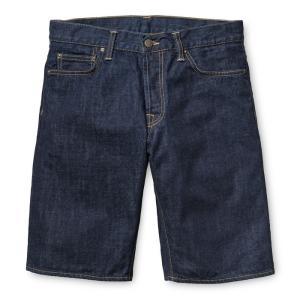CARHARTT WIP / カーハート KLONDIKE SHORT II ショートパンツ ショーツ  BLUE(RINSED) ブルー デニム ワンウォッシュ|americanrushstore