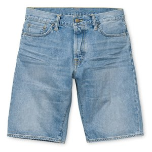 CARHARTT WIP / カーハート KLONDIKE SHORT II ショートパンツ ショーツ  BLUE ブルー デニム BURST WASHED 送料無料|americanrushstore