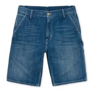 CARHARTT WIP / カーハート RUCK SINGLE KNEE SHORT PANT ぺインター ショートパンツ ショーツ  BLUE(STRAND WASHED) ブルー デニム 送料無料|americanrushstore