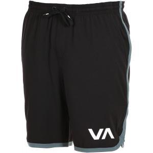ルーカ VA スポーツ ショーツ ブラック ストレッチ スウェット イージー ショーツ ハーフパンツ サーフ スケート RVCA VA SPORT SHORT BLACK|americanrushstore