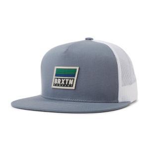 ブリクストン メッシュキャップ グレー/ホワイト 帽子 キャップ スナップバック メンズ レディース BRIXTON BANYAN MP MESH CAP GREY/WHITE|americanrushstore