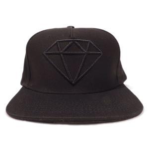 DIAMOND SUPLY CO. / ダイアモンド サプライ ROCK LOGO SNAPBACK CAP スナップバック キャップ BLACK/BLACK ブラック/ブラック americanrushstore