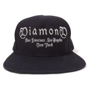 DIAMOND SUPLY CO. / ダイアモンド サプライ GANG SNAPBACK CAP スナップバック キャップ NAVY ネイビー americanrushstore