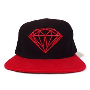 DIAMOND SUPLY CO. / ダイアモンド サプライ BRILLIANT SNAPBACK CAP スナップバック キャップ BLACK/REDブラック/レッド americanrushstore