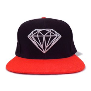 DIAMOND SUPLY CO. / ダイアモンド サプライ BRILLIANT SNAPBACK CAP スナップバック キャップ BLACK/ORANGE ブラック/オレンジ americanrushstore