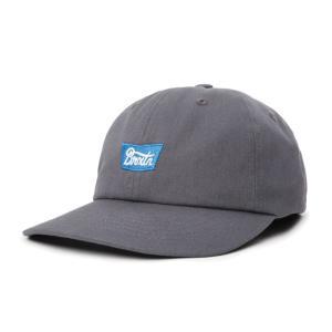 ブリクストン メンズ レディース コットン ストラップ バック キャップ グレー 帽子 ダッド ロー キャップ  BRIXTON STITH LP CAP GREY|americanrushstore
