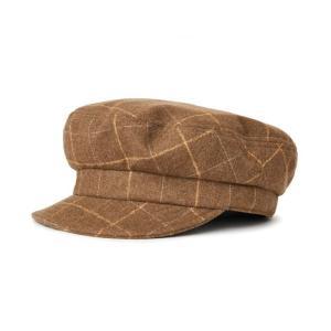 ブリクストン メンズ レディース フィドラー フィッシャーマン キャップ キャメル ブラウン チェック 帽子 キャスケット BRIXTON FIDDLER UN CAP CAMEL|americanrushstore