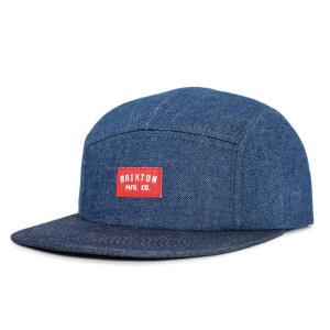 ブリクストン 5パネル キャップ 帽子 インディゴ BRIXTON HENDRICK 5 PANEL CAP INDIGO|americanrushstore