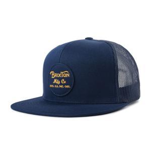 ブリクストン メンズ レディース メッシュ キャップ ブルー 帽子 トラッカー ハット BRIXTON WHEELER MESH CAP PATRIOT BLUE|americanrushstore