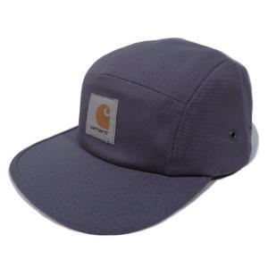 カーハート メンズ バックレー キャップ 5パネル ジェット キャンプ キャップ ブルー 帽子 CARHARTT BACKLEY CAP BLUE I016607|americanrushstore