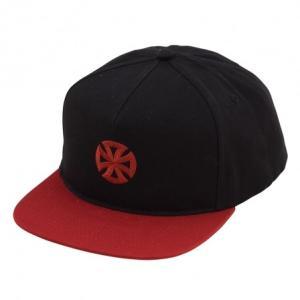 インデペンデント スナップバック キャップ 帽子 ブラック INDEPENDENT DIRECTIONAL CROSS SNAPBACK HAT|americanrushstore