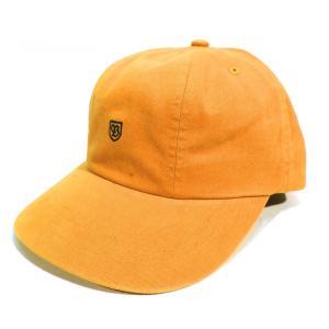ブリクストン キャップ ゴールド ロー ダッド キャップ 帽子 メンズ レディース BRIXTON UNION COLLECTION B-SHIELD CAP GOLD americanrushstore