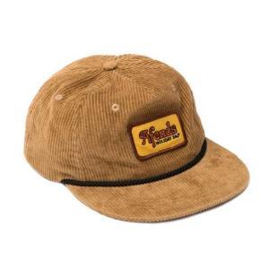 アフェンズ メンズ レディース アンストラクチャード キャップ ハニー コーデュロイ 帽子 スナップバック AFENDS HOLIDAZE UNSTRUCTURED CAP HONEY|americanrushstore