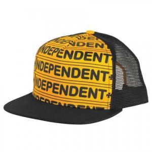 INDEPENDENT / インデペンデント AXLE BAR MESH CAP メッシュキャップ トラッカーハット GOLD / BLACK|americanrushstore