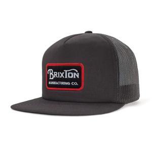 ブリクストン メッシュキャップ 帽子 キャップ ブラック スナップバック BRIXTON GRADE MESH CAP BLACK|americanrushstore