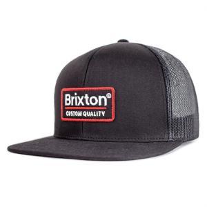 ブリクストン メッシュキャップ ブラック スナップバック  キャップ ハット 帽子 BRIXTON PALMER MESH CAP BLACK|americanrushstore
