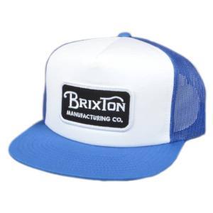 BRIXTON / ブリクストン GRADE MESH CAP メッシュキャップ 帽子 キャップ WHITE/BLUE ホワイト/ブルー|americanrushstore