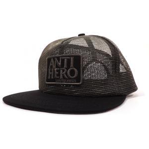アンチヒーロー トラッカーハット アーミー グリーン メッシュキャップ メンズ アンタイヒーロー スケート ANTIHERO RESERVE PATCH MESH TRUCKER HAT ARMY|americanrushstore