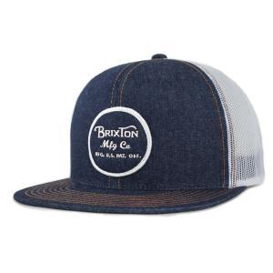 ブリクストン メッシュキャップ 帽子 キャップ デニム スナップバック BRIXTON WHEELER MESH CAP DENIM|americanrushstore