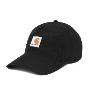 カーハート キャップ メンズ レディース スクエア ラベル 6パネル ブラック 黒 帽子 ナイロン CARHARTT WIP SQUARE LABEL 6-PANEL BLACK A191007|americanrushstore