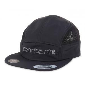 カーハート メンズ レディース ナイロン キャンプ ジェット キャップ ブラック 帽子 CARHARTT WIP TERRACE CAP BLACK I026303|americanrushstore