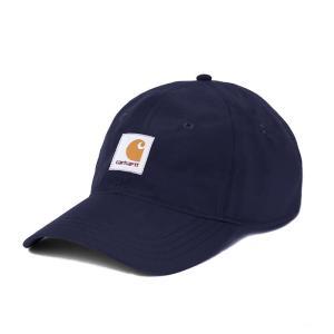 カーハート キャップ メンズ レディース スクエア ラベル 6パネル ダーク ネイビー 帽子 ナイロン CARHARTT WIP SQUARE LABEL 6-PANEL DARK NAVY A191007|americanrushstore