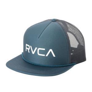 ルーカ ロゴ メッシュ キャップ チャイナ ブルー スナップバック トラッカーキャップ サーフ スケート RVCA FOAMY TRUCKER HAT CHINA BLUE AJ041-927|americanrushstore