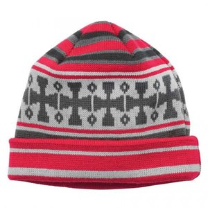 INDEPENDENT / インデペンデント FLAKE BEANIE KNIT CAP ビーニー ニットキャップ RED / EBONY / SILVER|americanrushstore