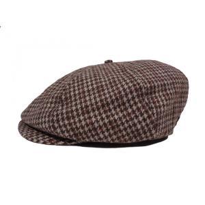 ブリクストン ハンチング キャップ カーキ ハット キャスケット ツイード メンズ 帽子 千鳥格子 ハウンドトゥース チェック BRIXTON BROOD HAT KHAKI|americanrushstore
